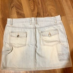 ICED BLUE WASHED OUT DENIM MINI SKIRT